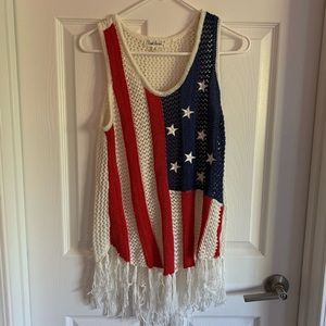 Americans Flag Knot Tank Top